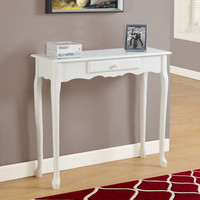 """Accent Table - 36""""L / Antique White Hall Console"""