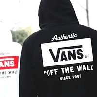 Vans off the wall Stylish Casual Winter Unisex Black & White Hoodies [11560007564] Black