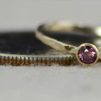 Dainty Gold Alexandrite Ring