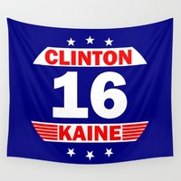 Clinton Kaine 16 Wall Tapestry by pollylitical