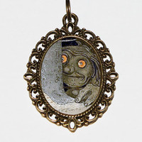 Troll Necklace, Oval Pendant