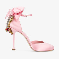 JEWEL AND BOW EMBELLISHED PUMPS