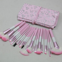 On Sale Hot Sale Make-up Hot Deal Beauty 24-pcs Pink Heart-shaped Pattern Make-up Brush [6048379073]
