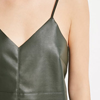 Faux Leather Cami