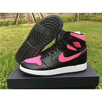 Air Jordan 1 GS Vivid Pink Wmns Shoes 36-40