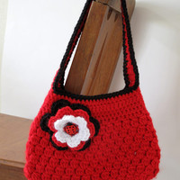 Crocheted Ladybug Girls Purse Handmade