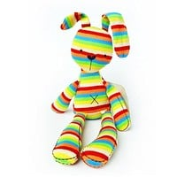40CM Rainbow Rabbit With Tags Mamas & Papas Iridescent Baby Bunny For Baby Figures Plush Toys Mamas And Papas Rabbit For Kids