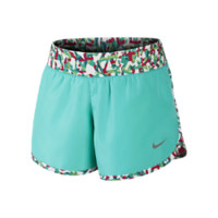 Nike Tempo Rival Graphic Preschool Girls' Shorts: Size 6X (Green)