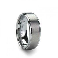 MAGNUS Raised Center with Brush Finish Tungsten Ring