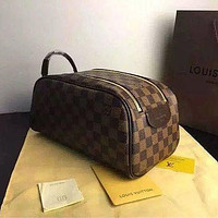 Louis Vuitton LV Classic Hot Sale Women Makeup Bag Cosmetic Bag Double Zipper Purse Wallet Handbag