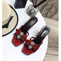 ysl women casual shoes boots fashionable casual leather women heels sandal shoes 5