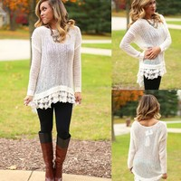 All The Trimmings Sweater in Ivory