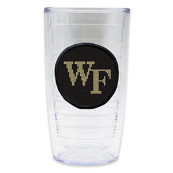 Wake Forest Needlepoint Tumbler by Smathers & Branson