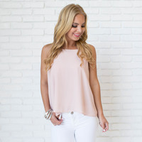 Making Me Blush Pink Blouse