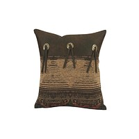 Cowgirl Kim Sierra Faux Leather Pillow