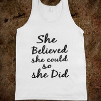 She Believed She Could So She Did Tank Top