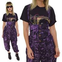 Vintage 80s One Family Overalls Jumpsuit
