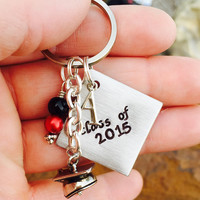 Hand stamped graduation gift, Class of- custom School graduates gift