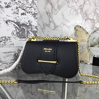 prada women leather shoulder bag shopping satchel prada tote bag handbag 20