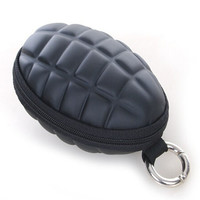Military Black Grenade Coin Purse Pouch & Key Holder Bag