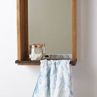 Slatted Console Mirror by Anthropologie Brown One Size Wall Decor