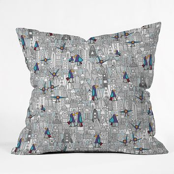 Sharon Turner Birds And Rockets Throw Pillow
