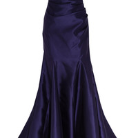 Badgley Mischka Satin-twill gown – 50% at THE OUTNET.COM