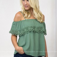 Olive Dolly Top