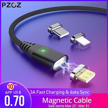 1M 2M Magnetic Cable Micro usb Type C Fast Charging Microusb Type-C Magnet Charger Wire usb c For iphone 11 X Xr usb cable