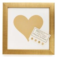 Petal Lane 'Heart' Small Framed Magnet Bulletin Board