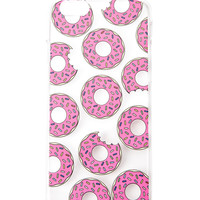 Clear Donut Print Phone Case