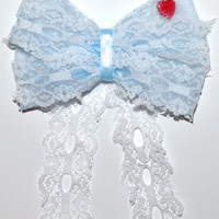 Haunted Mansion Bride Hair Bow by MickeyWaffles on Etsy