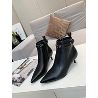 lv louis vuitton trending womens men leather side zip lace up ankle boots shoes high boots 175