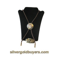 Sterling Silver Bolo Necktie with Hawaiian Crest