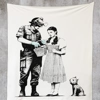 Dorothy 50x60 Wall Tapestry by Banksy