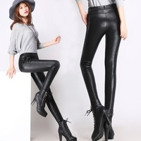 *Online Exclusive* Snakeskin Print Faux Leather Pant