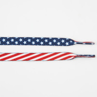 Blue Crown Flag Shoelaces Red/White/Blue One Size For Men 23264494801
