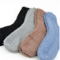 Cable Knit Fuzzy Socks