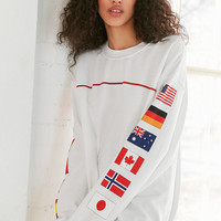 Hinds Flag Crew-Neck Sweatshirt | Urban Outfitters