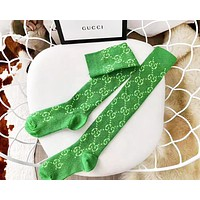 GUCCI New fashion more letter print keep warm long sock women Green