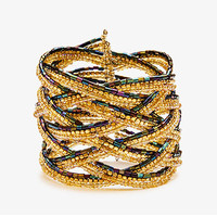 Braided Beaded Cuff