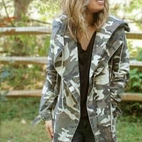 Jane Camo 4-Pocket Surplus Jacket