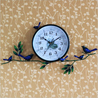 Iron Korean Style Pastoral Style Clock [6282894982]