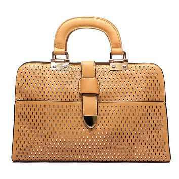Perforated Top Handle Tote
