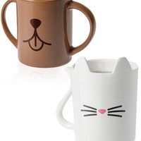 Animal Mugs: Gloriously adorable cat and dog drinking cups.