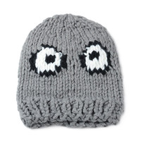 Gray Round Eyes Knitted Beanie