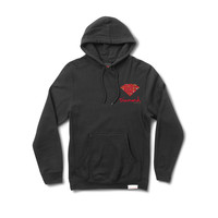Low Life Logo Pullover Hood in Black