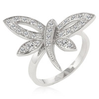 Dragonfly Inspired Ring, size : 05