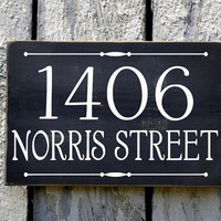 Address Plaque Custom House Numbers Sign Personalized Outdoor Street Porch Patio Drive Directional Wood Home Number Signage Hanging Hanger