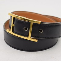 hermes belt, men hermes belt, women hermes belt, belt, belt hermes, belts for men, belts for women, Leather belt, men belt, mens belt, women belt,Authentic Hermes Belt Hapi Black X Light Brown Reversible 70 76210